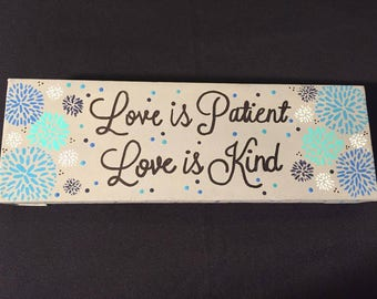 Love is Patient, Love is Kind Canvas