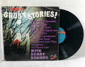 Famous Ghost Stories With Scary Sounds vinyl record Wade Denning 1975 vintage Halloween
