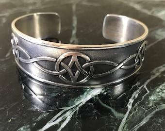 Mag Sterling Celtic Cuff Bracelet