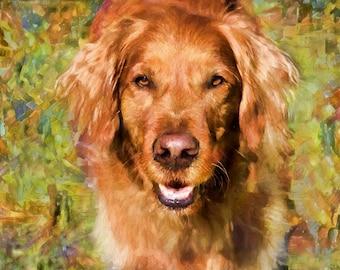 Golden Retriever, Dog Art, Golden Retriever Art, Dog Wall Art, Dog Lover Gift, Dog Print, Dog Art, Dog Decor, Dog Portrait