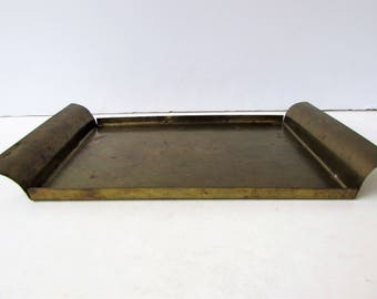 Vintage Solid Brass Tray or Bar Coaster  - Marguard - Solid Brass - Brass Tray - Brass Coaster - Bar Accessory -