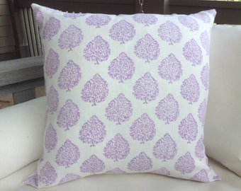 """JOHN ROBSHAW fabric """"Mali"""" in lavender-pillow covers"""