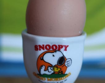 Vintage Retro  Snoopy China Egg Cup