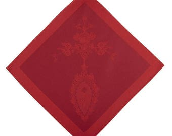Luxe Versailles Griotte French Jacquard Napkin