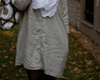 Linen tunic, Natural linen shirt, Women linen clothing, Loose linen tunic with pockets, Linen plus size tunic, Overisize linen tunic