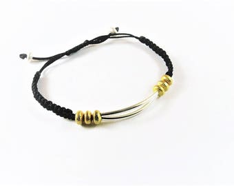 Gold-plated   sterling silver bracelet