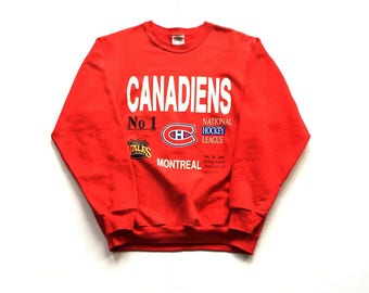 1989 Montreal Canadiens Nhl Hockey Crewneck sweatshirt size medium cgw 50-50 cotton polyester