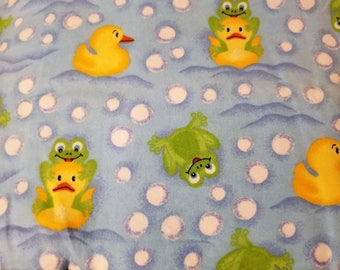 Frog and Duck Extra Large Recieving Blanket