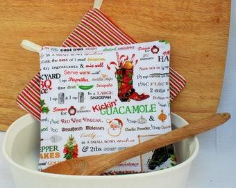 Christmas Cowboy Kitchen Potholder