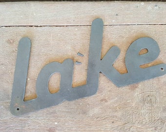 """Metal """"Lake"""" cutout for sugar molds, etc... (sugar mold,  containers or plants not included)"""