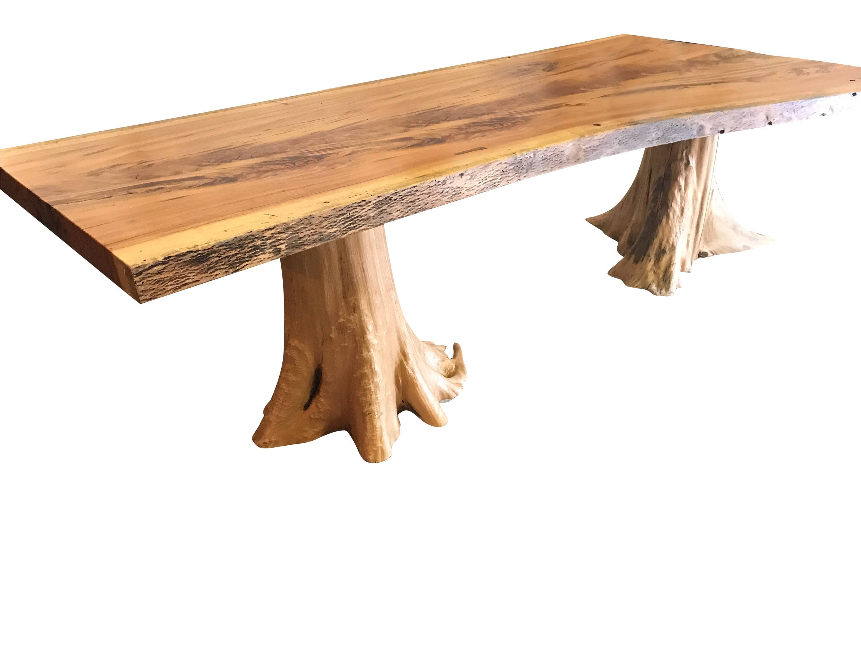 Live edge dining table, Live edge with a hand crafted custom base, unique  dining