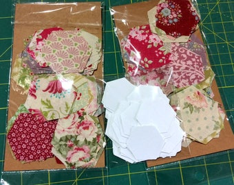 Tilda Hexagon Fabric Kit - 70 die cut Tilda fabric