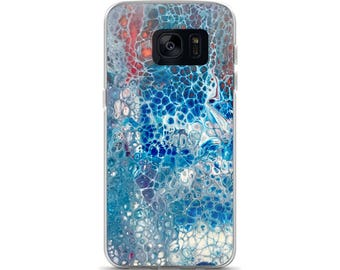 Phone Case/Cover for Samsung Galaxy S7, S7 Edge, S8, S8 + plus, patriotic phone cover, fluid art, art print case, red white and blue phone