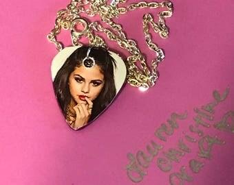 Selena Gomez Guitar Pick Necklace