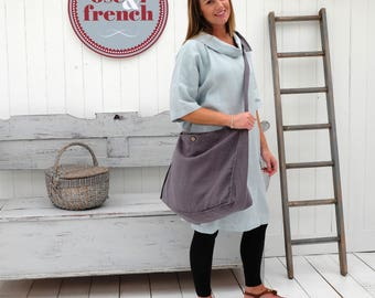 Linen TOTE Bag, Linen Satchel, Linen Messenger Bag, Linen Over Body Bag, Linen Bag, Linen Shopper, Linen Beach Bag, Linen Shopper