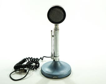 Iconic Astatic D-104 Microphone, Chrome Astatic Microphone D 104, Vintage CB Microphone, Chrome Lollypop, Astatic Microphone