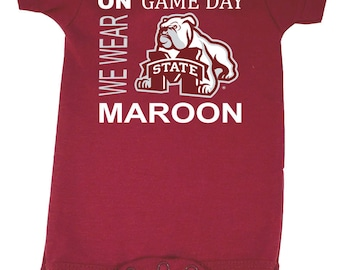 Mississippi State Bulldogs On Game Day Baby Bodysuit