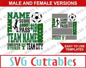 Soccer Subway Art SVG, Girls / Boys version, SVG Template,Digital Cut File