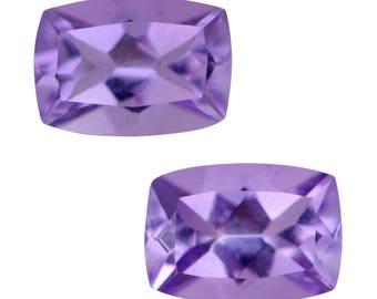 Pink Amethyst Cushion Cut Set of 2 Loose Gemstones 1A Quality 7x5mm TGW 1.50 cts.