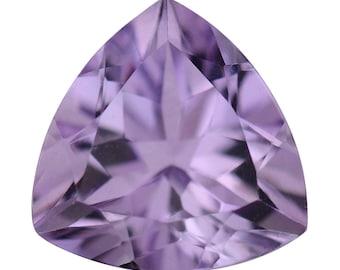 Pink Amethyst Trillion Cut Loose Gemstone 1A Quality 9mm TGW 1.70 cts.