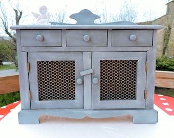 PATINA GRAY GUSTAVIAN DOLL FURNITURE