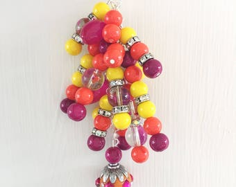 Bright Sunset Planner Charm - Planner Accessories, Purse Charm, Zipper Pull, Chunky Travelers Notebook Charm
