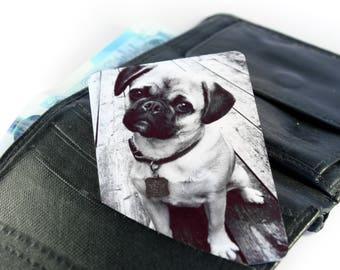 Personalised Metal Photo Keepsake Card For Wallet/ Purse