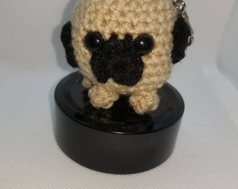 Small Keychains/Crochet/Dog/Emoji/Bunny/Easter/Pet Lovers/Amigurumi/Pug