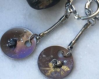 Geek bling - Meteorite Keychain