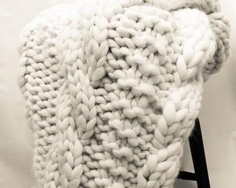 super chunky knit etsy. Black Bedroom Furniture Sets. Home Design Ideas