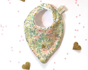 Liberty poppy bandana bib