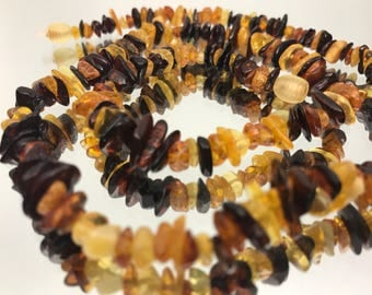 "22"" baltic amber  // Chip Style // Adult Gemstone Necklace //"