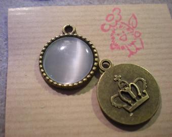 bronze 1 Locket with white 18 mm