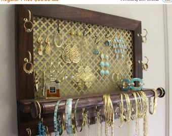 ON SALE Clover Mesh Series Wall Mounted Jewelry Organizer, Wall Organizer, Jewelry Display, Necklace Holder, Earring Organizer
