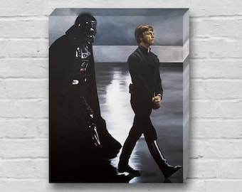 This Shadow Follows Me - Luke Skywalker / Mark Hamill and Darth Vader Star Wars Return of the Jedi Canvas Art Print