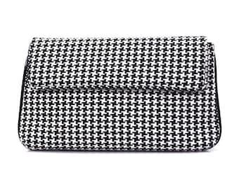 Black and White Woolen Clutch | Shoulder Bag | Evening Bag