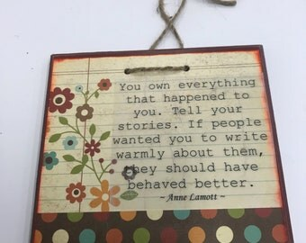 Anne Lamott Quote Wall Hanging