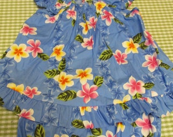 Girls 4T Made in Hawaiian 2 Piece Set Top and Shorts Hawaii Floral Print