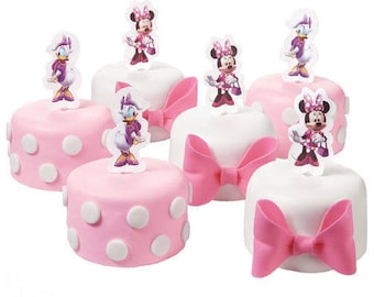 Minnie Mouse and Daisy Duck Cupcake Pix/ 24 Count