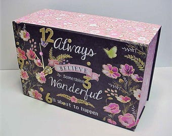 Always Believe aCharm Clock for Desk Wall Table or Dresser Adorable Clock and Treasure Box in One - Special Hiding Place - Personalize it!