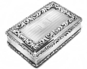 Nathaniel Mills Antique Georgian Sterling Silver Snuff Box Birmingham 1832 Georgian silver toy