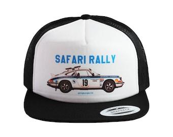 1974 Porsche 911 Carrera RS (Safari Rally) Baseball Cap, Trucker Hat