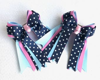 SHORTY 3X3 Horse Show Hair Bows/hair accessory/equestrian clothing/gift