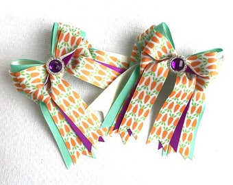 Shorty Show Bows,Beautiful Spring Easter Bows/hair accessory/Ready2Mail with elastic loops