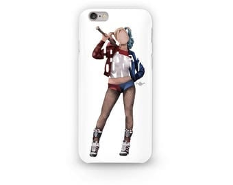 "Harley Quinn Phone Case Typography Design from The Suicide Squad with her name, ""Harley Quinn"" for all i-Phone Sizes. Daddy's Lil Monster"