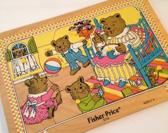 ON SALE Vintage Fisher Price puzzle
