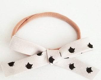 Little Cat Lady bow. Headband or hair clip
