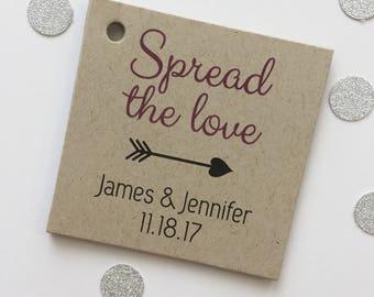 Spread The Love Tags, Jam Tag, Jam Wedding Favor Tags, Wedding tags (SQ-248-KR)
