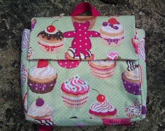 cartable maternelle cupcakes verts