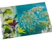 Set de table plastifié fleuri carottes sauvages et nénuphars